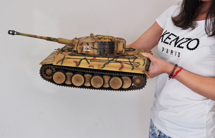 Radio remote control 1/16 Large Scale Model Tank World War II German Tiger I, IR BATTLE Games, Trumpeter model 00808, RC Tank