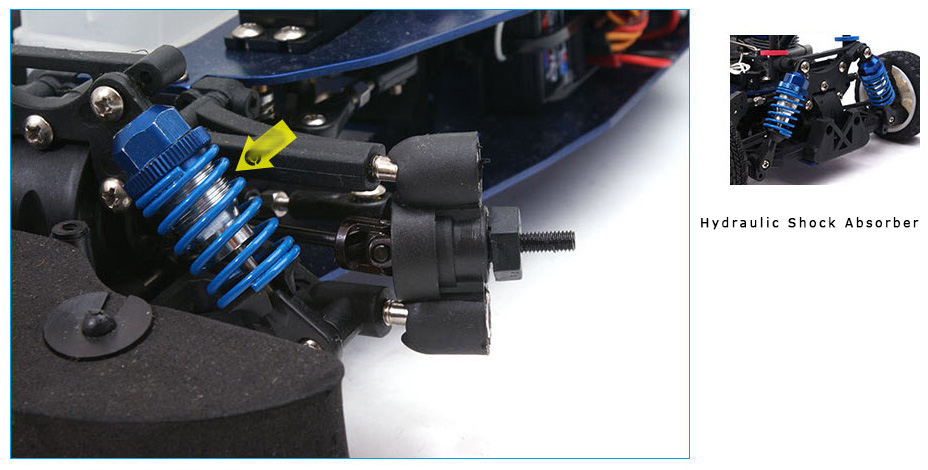 Hydraulic Shock Absorber, GS15R 15CXP nitro engine, Rapid Vh-A6 Lambo Style 4WD 1/10 Nitro Road Car, gas powered rc car, rc racing, rc drift, RC Nitro Car.