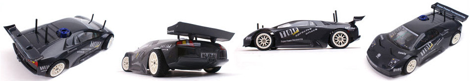 Rapid Vh-A6 Lambo Style 4WD 1/10 Nitro Road Car, gas powered rc car, rc racing, rc drift, RC Nitro Car.