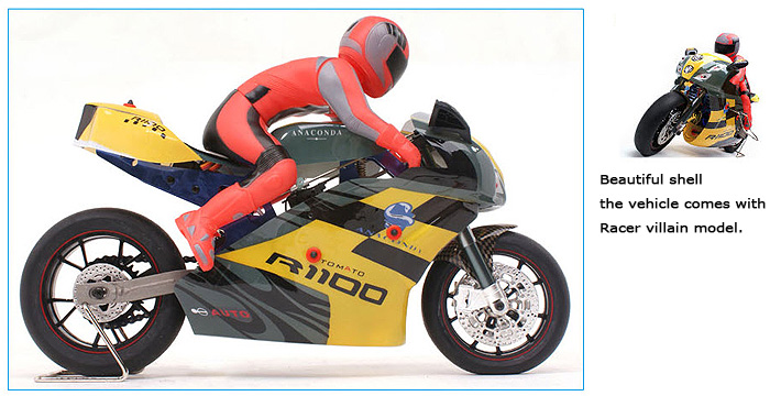 VH-EP5 1/5 Scale Remote control motorcycle, Electric Power On-Road RC Racing motorcycle