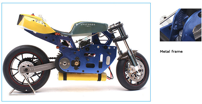 Metal frame rc motorbike, VH-EP5 1/5 Scale RC Electric Motorcycle.