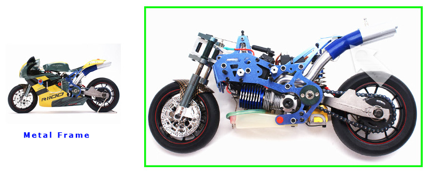 Metal frame rc motorbike, VH-GP5 1/5 Scale RC Nitro Motorcycle.