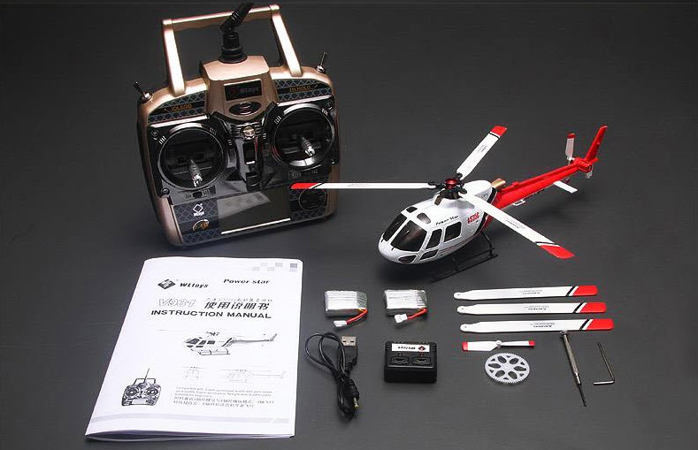 Rtf Wltoys V931 As350 Squirrel 6channel Flybarless Rc
