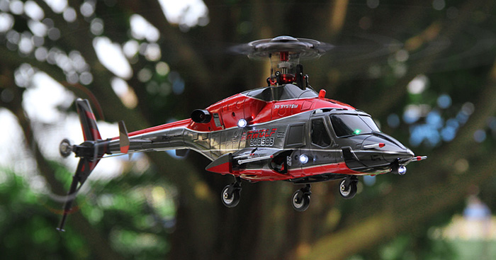 Walkera RC Helicopter, Airwolf 200SD5 5 Blades Brushless RTF 3D 6CH radio control helicopter, devo transmitter.