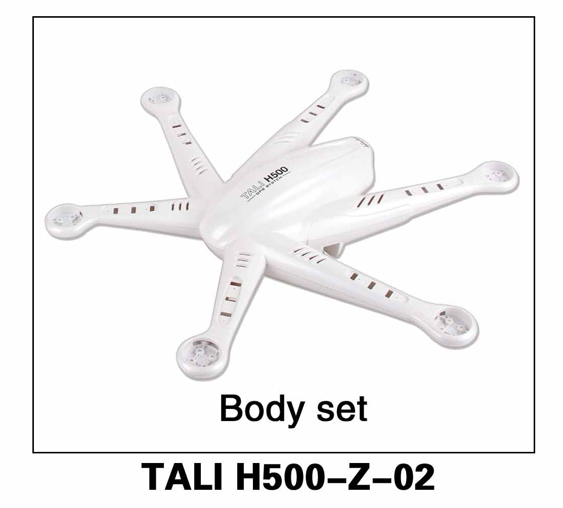 Walkera parts, RC Helicopter, RC hexacopter, GPS FPV Drone, Tali H500 Accessories H500-Z-02 Body Set Fuselage canopy