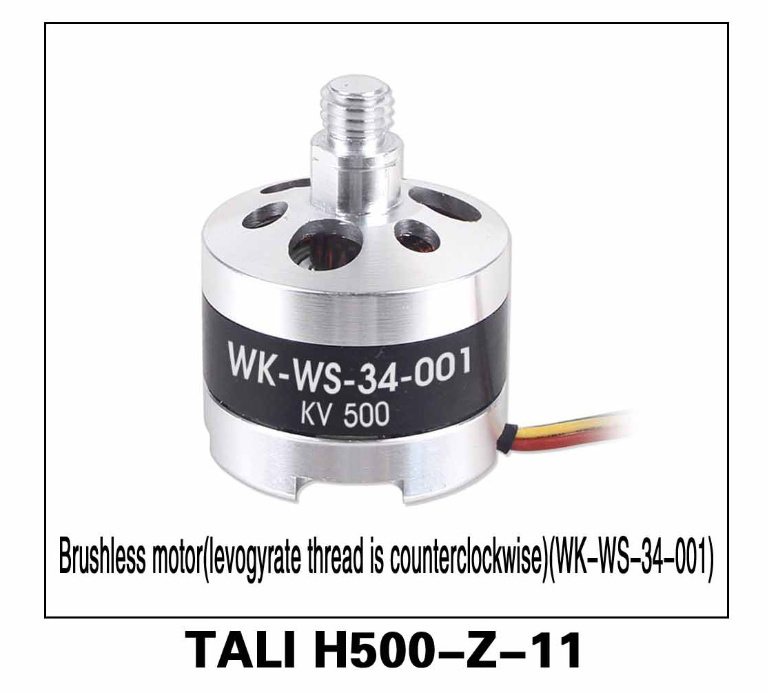 Walkera parts, RC Helicopter, RC hexacopter, GPS FPV Drone, Tali H500 Accessories H500-Z-11 KV 500 Brushless Motor (WK-WS-34-001) Counterclockwise Left-hand thread