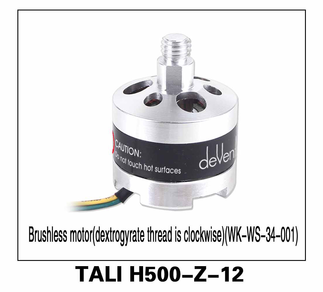 Walkera parts, RC Helicopter, RC hexacopter, GPS FPV Drone, Tali H500 Accessories H500-Z-12 KV 500 Brushless Motor (WK-WS-34-001) Clockwise Right hand thread