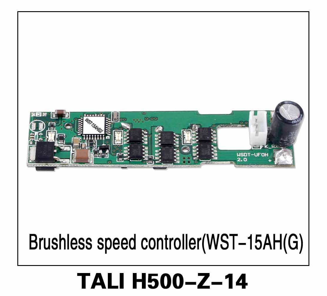 Walkera parts, RC Helicopter, RC hexacopter, GPS FPV Drone, Tali H500 Accessories H500-Z-14 Brushless Speed Controller ESC (WST-15AH(G))