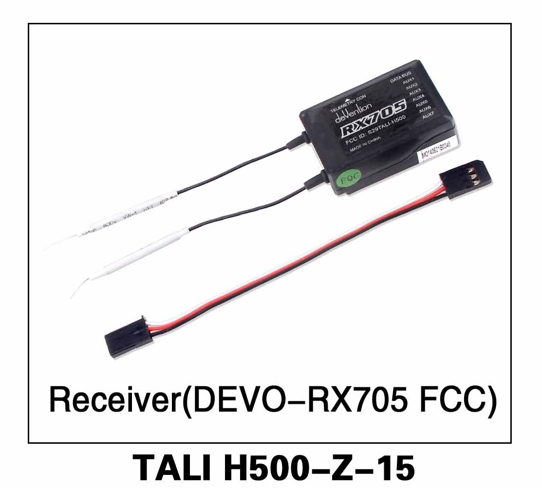 Walkera parts, RC Helicopter, RC hexacopter, GPS FPV Drone, Tali H500 Accessories H500-Z-15 receiver DEVO RX705 FCC