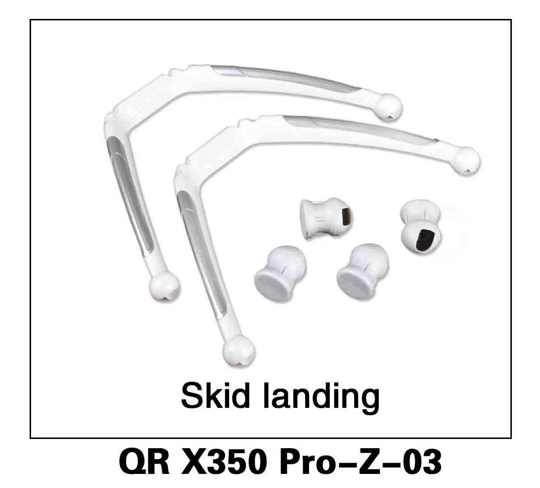 Walkera RC Model, RC Helicopter, RC Quadrocopter, FPV Drone, QR X350 PRO PRO-Z-03 skid landing Landing gear alighting gear Spare parts
