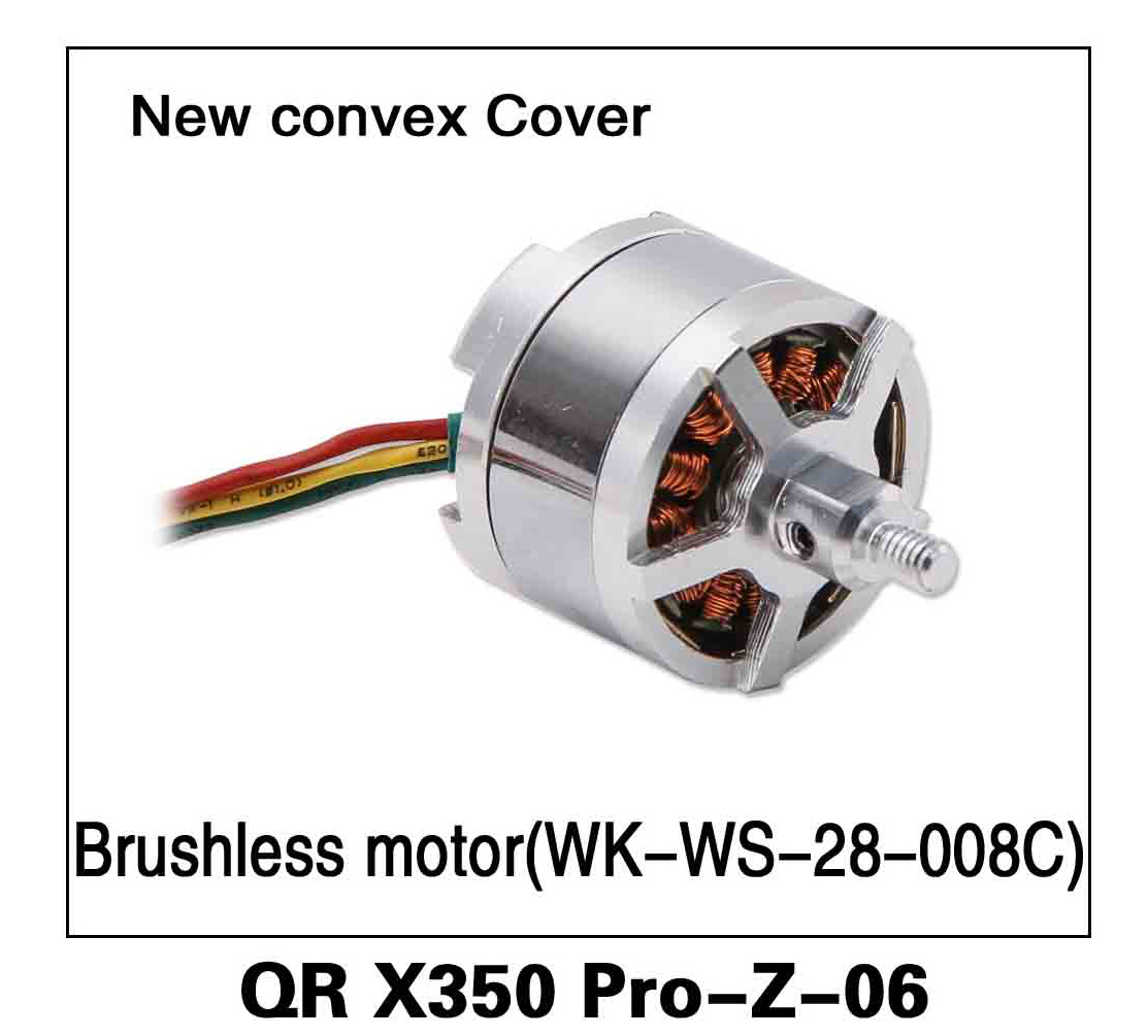Walkera RC Model, RC Helicopter, RC Quadrocopter, FPV Drone, QR X350 PRO PRO-Z-06 New Convex Cover Brushless Motor WK-WS-28-008C Spare parts