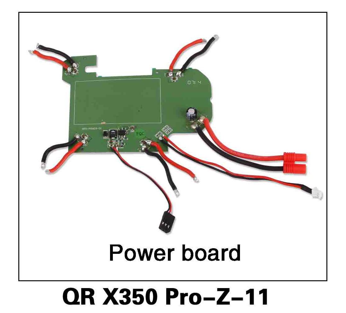 Walkera RC Model, RC Helicopter, RC Quadrocopter, FPV Drone, QR X350 PRO PRO-Z-11 Power board Spare parts