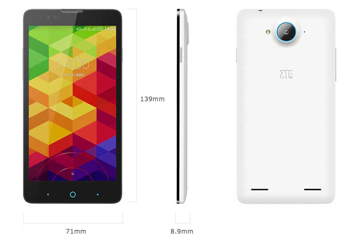 zte v5s best dual sim 5 inch Android OS smartphone 4 Cores CPU GSM UMTS WCDMA 4G LTE mobile phone